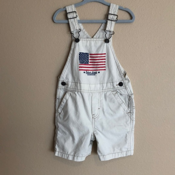 New OshKosh Boy USA Flag Short Overalls NWT 18m 24m 2T 3T 4T 5T Vestbak Shorts
